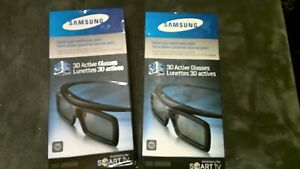 2 Samsung 3D Active Glasses SSG4100GB Smart TV w/ xtra batteries 1 New 1 Opened