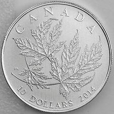 Canada 2014 $10 Silver Maple Leaf ½ oz. Pure Silver Specimen Numismatic Coin