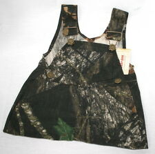 Mossy Oak Camo Baby Girl Skirt Overalls Dress, Toddler Camouflage