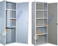 Armadio Metallo Scarpiera Portascope Bianco Armadietto Ripiani 180 60 40 Acciaio