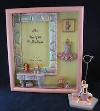 3D BALLERINA SHADOW BOX 8 x 9 Picture FRAME 4 x 6 Photo w/Desk Top Photo Holder