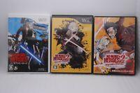 Nintendo Wii NO MORE HEROES 1 & 2 Desperate Struggle w/ CD & DVD 2Games Japan