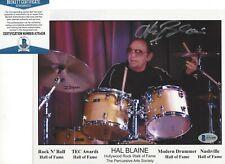HAL BLAINE STUDIO SESSION DRUMMER SIGNED 8x10 PHOTO BECKETT COA WRECKING CREW