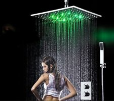 """Bathroom Faucets Accessories 16"""" Big Rain Shower Thermostatic Mixer Faucet Set"""