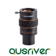 "Celestron X-Cel LX 1.25"" 3x Barlow Lens Fully Multi-coated 93428"