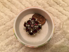 Sterling Silver ? Garnets ? Womens Ring Approx size 6