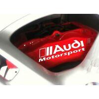 Autocollant Frein Audi Motosport stickers étriers - couleur rouge