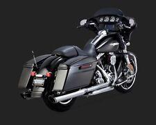 Vance & Hines Twin Slash Round Slip-On Exhaust Mufflers - HD Touring _16763