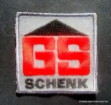 """GS SCHENK EMBROIDERED SEW ON PATCH CONSTRUCTION COMPANY GERMAN UNIFORM 2 1/4"""""""