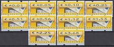 Bund ATM 5.1 VS 1 ** 2002 Briefkasten Versandstellensatz 10 Werte kpl.postfrisch