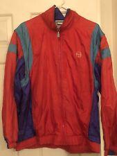 Vintage Sergio Tacchini Windbreaker Jacket Mens SIZE 40 L Removable Sleeves Zip