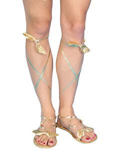 Egyptian Cleopatra Greek Roman Goddess Golden Womens Costume Sandals