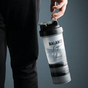 Shaker Bottle 500ML Protein Powder Mixing Sports Fitness Gym Workout Shaker