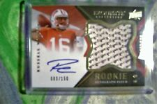 2012 Exquisite football Russell Wilson auto/patch rookie card # 83/150