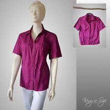 CECIL * Bluse Hemdbluse Hemd - Kurz Arm Cotton & Stretch Gr.XL fuchsia 104