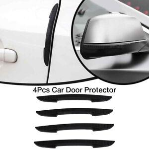 4x Car Bumper Mirror Door Edge Guard Trim Molding Strip Anti-Collision Protector