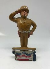 VINTAGE BARCLAY MANOIL TOY SOLDIER GENERAL PATTON (6/15) RARE SALUTING