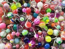 10 x Metal Belly Bars - Navel Rainbow colours UK Stockist