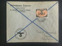1944 Tarnow GG Germany Official cover to Taunas