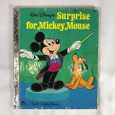 Walt Disney A Little Golden Book Surprise For Mickey Hardcover 2nd Printing
