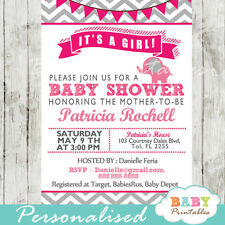 Elephant Baby Shower Invitation for Boys or Girls - Printable Digital File
