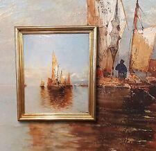 TOP Seestück vor Scheveningen. KARL WAGNER (*1856 Wien) Ölgemälde Artprice-4000€