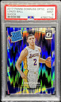 Lonzo Ball 2017-18 Donruss Optic Rated Rookie SHOCK Rookie RC #199 MINT PSA 9
