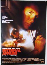 INTERNAL AFFAIRS Richard Gere, Andy Garcia - Filmplakat DIN A1 (gerollt)