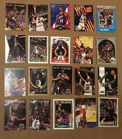 KARL MALONE 20 CARD LOT INSERTS PREMIUM TEAM USA UPPER DECK SKYBOX SP CARDS JAZZ