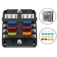 6-Way Car Marine Waterproof Fuse Box Block Holder with LED Indicator For 12V/32V