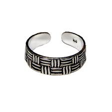 Toe Ring .925 silver girls adjustable open foot beach basketweave feeanddave