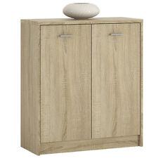 Ferrer Modern Oak Effect Small 2 Door Cupboard / Cabinet 74cm 85.4cm 34.6cm