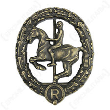 WW2 German Horsemans Badge - Bronze Repro Horse Rider Cavalry Military Army New