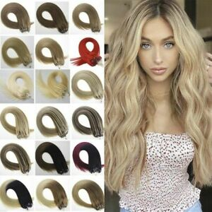 Double Silicone Micro Ring Hair Extensions MicroBeads Loop Tip Remy Human Hair1g