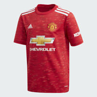 adidas 2020-21 Manchester United Home YOUTH Soccer Jersey FM4292 Size YOUTH XL