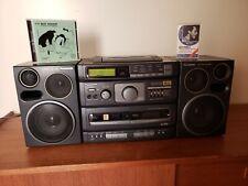 Panasonic RX-DT690 Platinum Tuner CD Cassette Tape Boombox S-XBS