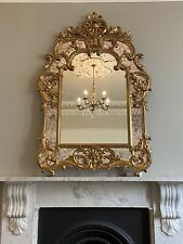 More details for large gold gilt mirror french style antique reproduction