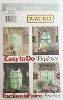 Butterick 5946 Sewing Pattern Valance, Jabot, Curtains Waverly Window UNCUT 1992