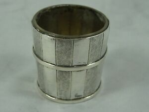 CHINESE solid silver BUCKET SALT, c1920