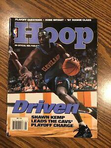 May 98 NBA HOOP Magazine - Shawn Kemp - HOF - Cavaliers - Michael Finley Poster