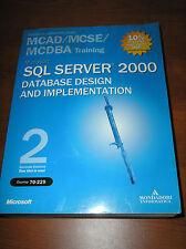 Microsoft sql server 2000 - data base design and implementation