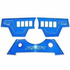 8 Switch 3 Piece Dash Panel Aluminum Blue Powdercoated fits Polaris RZR XP1000