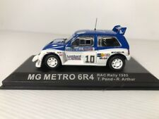 MG METRO 6R4 1985 1:43 Scale Rally Car Model in Display Case