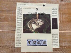 ESTONIA EESTI 1994 PAGES x 6 MNH WWF EUROPEAN FLYING SQUIRREL
