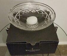"""~NIB WATERFORD CRYSTAL KEANE 8"""" CANDLE FLOATER~CANDLE STICKS~BOWL~W/ CANDLE"""