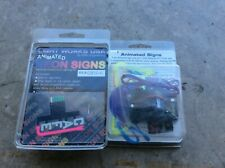 O- Gauge Light Works Usa. 2 - Animated Neon Signs. Cafe & Tool Die Nip
