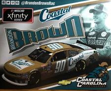 "2018 BRANDON BROWN ""DARLINGTON THROWBACK COASTAL CAROLINA"" #90 NASCAR POSTCARD"