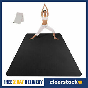 Cambivo 183x122cm Extra Large Long Wide Yoga Mat Non Slip TPE Gym Mats 6mm