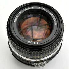 Nikon Nikkor 50mm f/1.4 AIS Super Sharp Man Focus Lens. Nr. Mint. Tsted see imgs