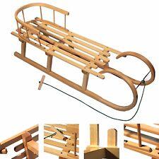 Hörnerrodel 120cm Schlitten Holzschlitten + Rückenlehne HÖRNERSCHLITTEN Holz XXL